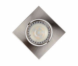 FARETTO LED 5W 3000K DA INCASSO SOFFITTO ORIENTABILE QUADRATO  DIMMERABILE NICKEL