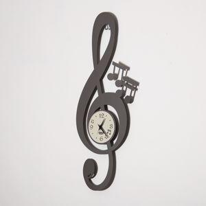 ARTI E MESTIERI CHIAVE MUSICALE OROLOGIO DA PARETE DESIGN MODERNO ARDESIA