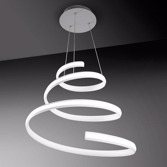 LAMPADARIO MODERNO PER SOGGIORNO LED DIMMERABILE SPIRAL VIVIDA