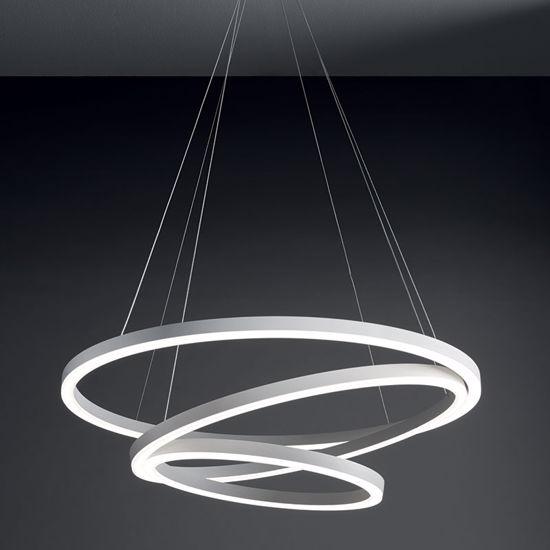 LAMPADARIO MODERNO BIANCO HURRICANE VIVIDA DESIGN LED 105W 3000K PER SOGGIORNO