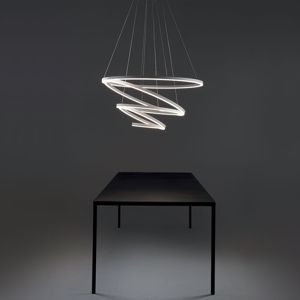 LAMPADARIO A LED 175W 3000K VIVIDA CERCHI LUMINOSI HURRICANE