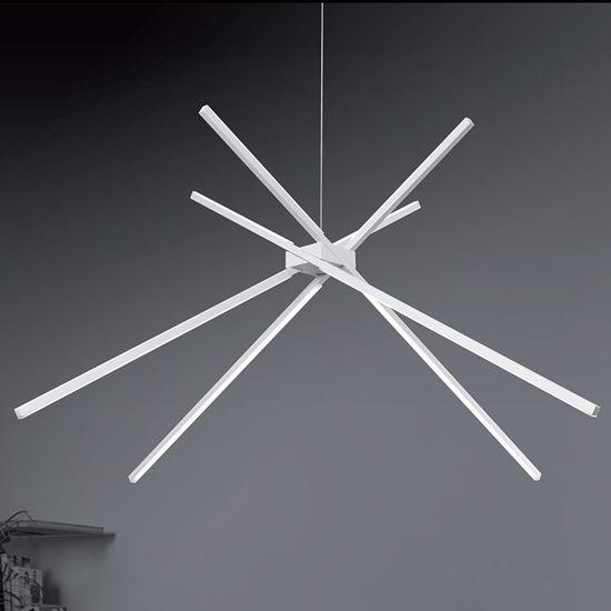 LAMPADARIO A LED DESIGN MODERNO 33W 3000K BIANCO PER SOGGIORNO VIVIDA SHANG