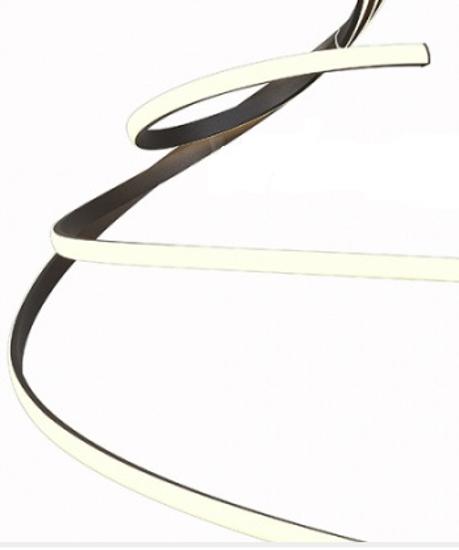 GRANDE LAMPADARIO LED 80W 2800K MARRONE SOGGIORNO MODERNO