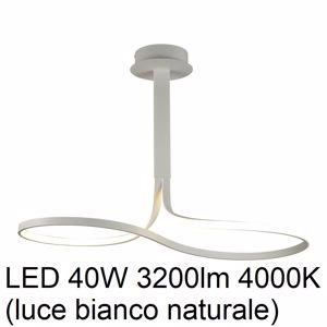 LAMPADARIO LED DA SOGGIORNO LED 40W 4000K DESIGN MODERNO BIANCO