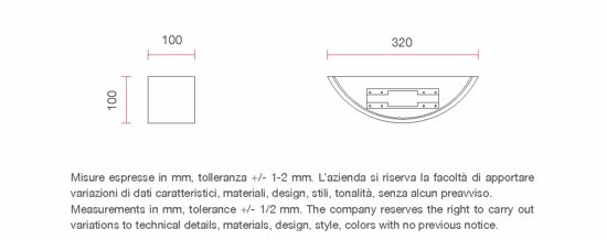 APPLIQUE LED 18W 3000K IN GESSO DA INTERNO SENZA INCASSO