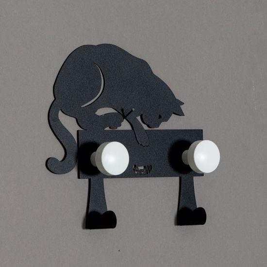 ARTI E MESTIERI HUNTER CAT APPENDIABITI GATTO NERO MODERNO ULTIMO PEZZO PROMO