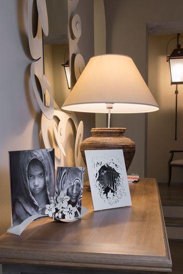 ARTI E MESTIERI FIOR DI LOTO ONDINA PORTAFOTO FANGO DESIGN MODERNO
