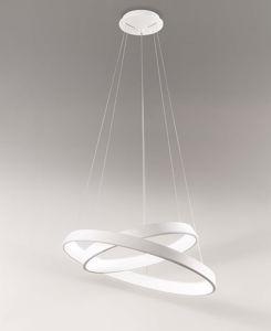 AFFRALUX ANELLI DIODI LAMPADARIO DESIGN MODERNO LED 71W 3200K 80CM BIANCO