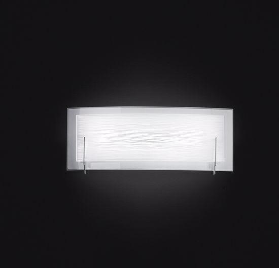 APPLIQUE LED 12W 3000K MODERNO VETRO CURVO SERIGRAFATO BIANCO