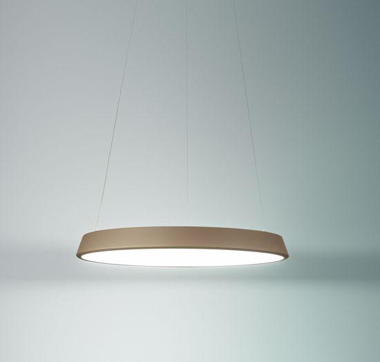 LAMPADARIO DESIGN MODERNO LED 31W 3200K ANELLI DIODI SABBIA AFFRRALUX