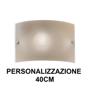ROSSINI ILLUMINAZIONE APPLIQUE 40CM IN VETRO RIGATO MARRONE DESIGN MODERNO