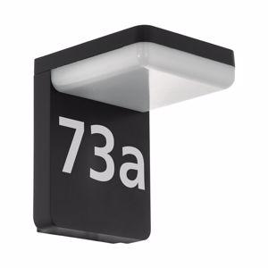 APPLIQUE DA ESTERNO NERO NUMERO CIVICO ILLUMINAZIONE LED IP44 PER ESTERNO