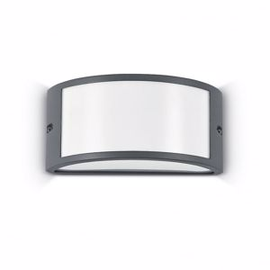 APPLIQUE DA ESTERNO IP44 E27 LED ANTRACITE LUCE DIFFUSA