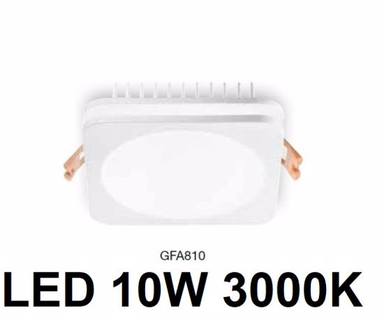 FARETTO DA INCASSO CONTROSOFFITTO LED 10W 3000K BIANCO QUADRATO GEA