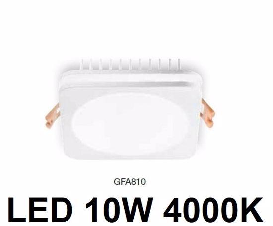FARETTO DA INCASSO CONTROSOFFITTO LED 10W 4000K QUADRATO BIANCO GEA