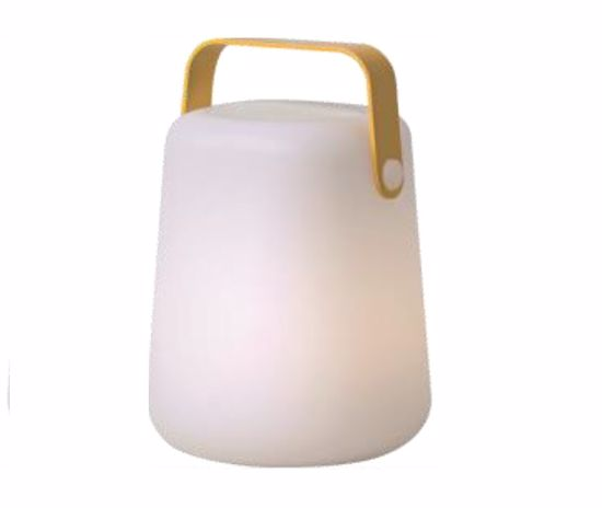 LAMPADA DA GIARDINO IP44 LED 3W RGB+W 3000K CASSA PORTATILE A BATTERIA MANICO GIALLO