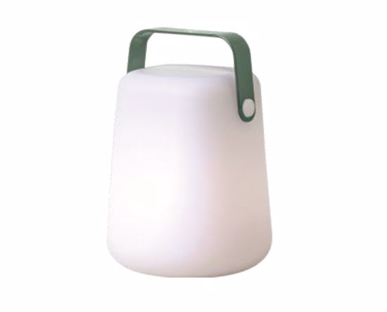 LAMPADA DA GIARDINO IP44 LED 10W RGB+W 3000K CASSA MANICO VERDE A BATTERIA PORTATILE