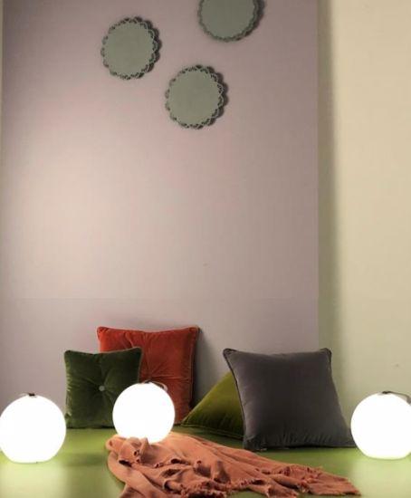 LAMPADA DA GIARDINO ESTERNO IP65 SFERA PORTATILE LED 2.2W  RGB+W A BATTERIA