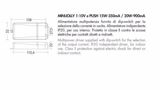 DRIVER MINIJOLLY 1-10V E PUSH 15W-350MA 20W-900MA