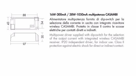 DRIVER MULTIPOTENZA CASAMBI 16W-300MA 38W-1050MA