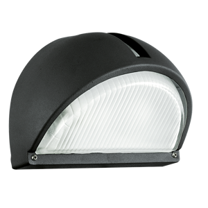 APPLIQUE DA ESTERNO NERO IP44 MODERNO E27 LED