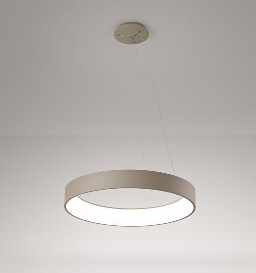GRANDE LAMPADARIO MODERNO LED 90W 3200K ANELLO SABBIA AFFRALUX BAND DIODI