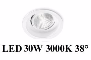 GEA LUCE FARETTO INCASSO CONTROSOFFITTO ORIENTABILE LED 30W 3000K 38GRADI