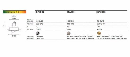FARETTO DA INCASSO CONTROSOFFITTI TONDO ORO GU10 LED ORIENTABILE