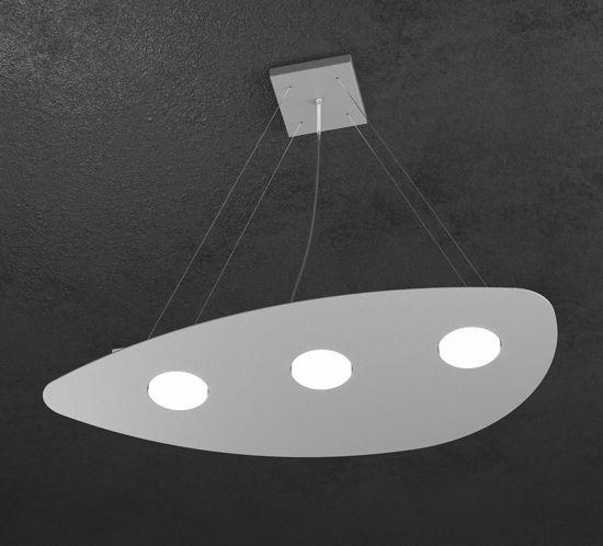 TOPLIGHT SHAPE LAMPADARIO MODERNO GRIGIO DESIGN ORIGINALE