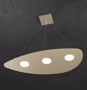 LAMPADARIO MODERNO COLORE SABBIA TOPLIGHT SHAPE DESIGN ORIGINALE