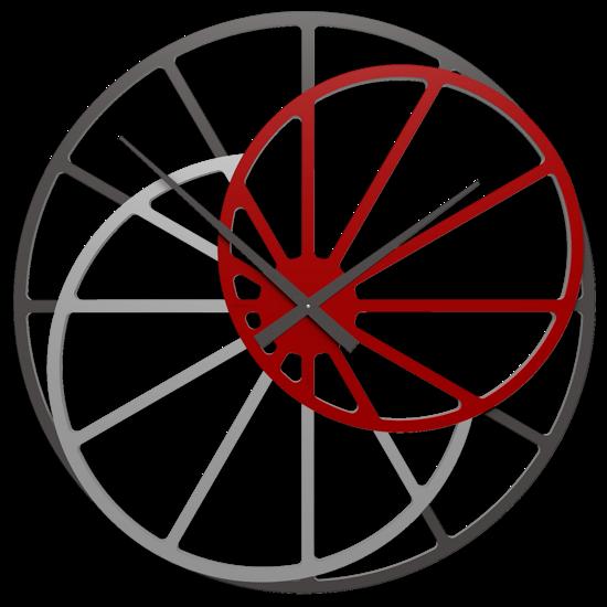 GRANDE OROLOGIO DA PARETE DESIGN MODERNO RUBINO 95CM