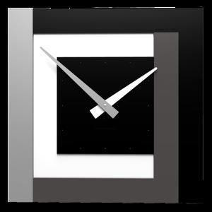 CALLEA DESIGN CLOCK40 STRIPES OROLOGIO MODERNO A PARETE NERO BIANCO GRIGIO