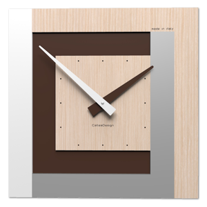 MODERNO OROLOGIO A PARETE ROVERE DECAPE CALLEA DESIGN CLOCK40 STRIPES