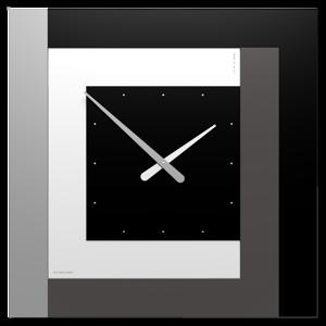 CALLEA DESIGN STRIPES CLOCK63 MODERNO OROLOGIO DA PARETE NERO