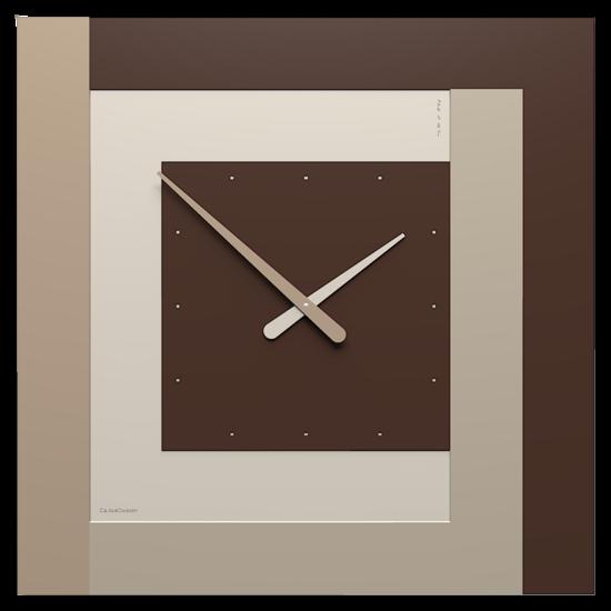 CLOCK63 STRIPES CALLEA DESIGN OROLOGIO A PARETE GRANDE CIOCCOLATO