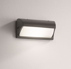 APPLIQUE DA ESTERNO IP54 E27 LED ANTRACITE DESIGN MODERNO