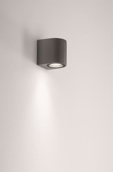 APPLIQUE DA ESTERNO ANTRACITE IP54 DESIGN MODERNO ISYLUCE