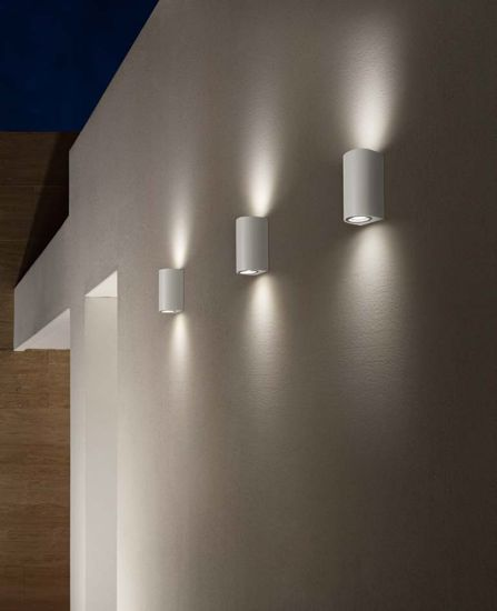 APPLIQUE DA ESTERNO LUCE UP DOWN IP54 ANTRACITE MODERNA ISYLUCE