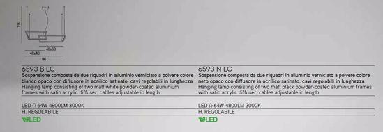 LAMPADARIO MODERNO LED 64W 3000K BIANCO QUADRATI SOSPESI PER SOGGIORNO