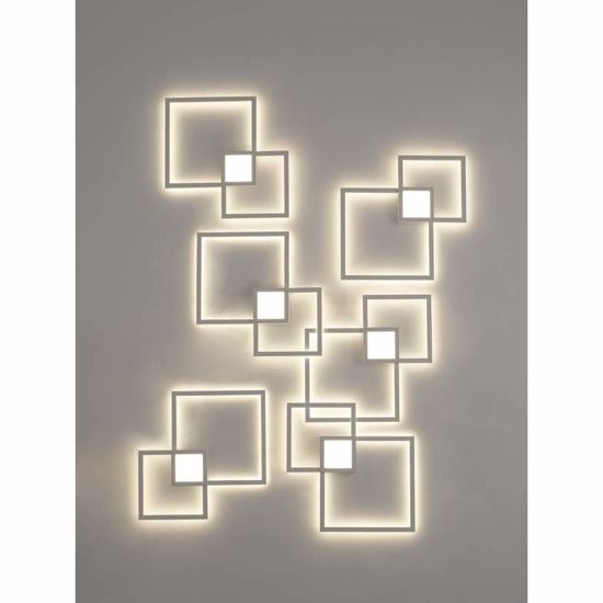 APPLIQUE LED 24W 3000K QUADRATI BIANCHI LUMINOSI DOPPIA LUCE