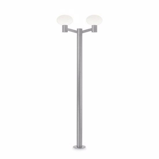 GRANDE LAMPIONE PER ESTERNO 2 LUCI OVALE DESIGN MODERNO GRIGIO