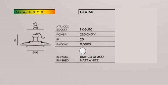 FARETTO DA INCASSO A SOFFITTO DESIGN MODERNO METALLO BIANCO