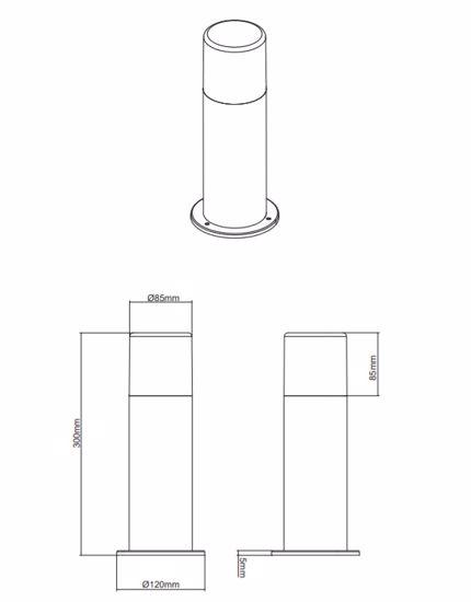 LAMPIONE DA GIARDINO IP44 MODERNO CILINDRO MARRONE LAMPIONCINO PER ESTERNI