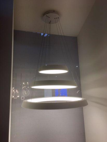 LAMPADARIO ANELLI DIODI TORTORA LED 80CM 88W 3200K AFFRALUX ISYLUCE