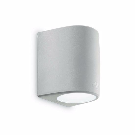 APPLIQUE MODERNA PER ESTERNO LAMPADINA E27 6W LED INCLUSA GRIGIO