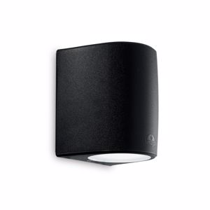 APPLIQUE A MURO MODERNA NERO LAMPADINA E27 6W LED INCLUSA