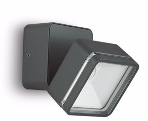 APPLIQUE PER ESTERNO ANTRACITE LED ORIENTABILE QUADRATO
