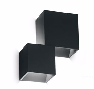 APPLIQUE PER ESTERNO CUBI NERO LED 14W 4000K