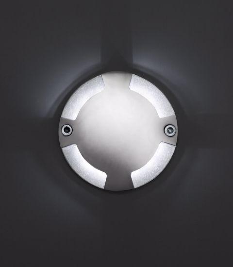 SEGNAPASSO LED DA INCASSO IP67 TONDO 1W 6500K A PAVIMENTO CALPESTABILE