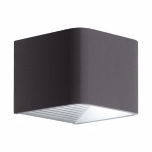 APPLIQUE DA ESTERNO CUBO LED 6W 3000K IP44 ANTRACITE
